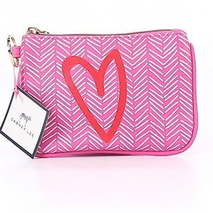 NWT Dabney Lee Chevron Heart Coin Purse